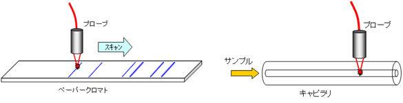イムノクロマトとHPLC(クロマトグラフィーによる測定器)