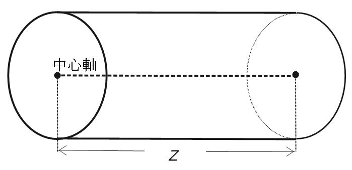 レンズ中心軸の長さの参考図